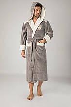 Махровий чоловічий халат Nusa. Преміум якість