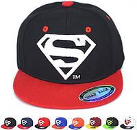 """Стильная в этом сезоне детская кепка """"Супермен"""" в стиле хип-хоп. Качественная бейсболка. Доступная. Код: КД62"""
