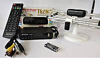 Тюнер Т2, Т2 Телебачення, Т2 Приставка, Т2 Ресивер + кімнатна антена PT5K +Wi-Fi адаптер MT7601 (комплект)