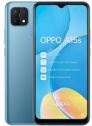 Смартфон OPPO A15s 4/64GB  Mystery Blue (UA UCRF)
