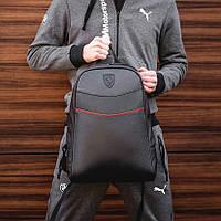 Рюкзак мужской городской кожаный черный, мужской рюкзак спортивный для ноутбука, кожаный рюкзак черный мужской
