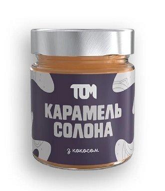 Карамель соленая с кокосовой стружкой и сливками / 200 г