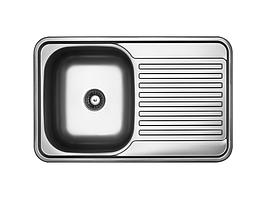Кухонная мойка Kuchinox FARO 1-камерная с крылом, 780х480х180 мм, отделка лен