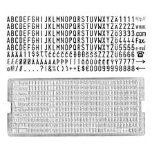 Касса букв и цифр Colop Typeset 3,5 мм