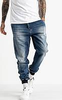 Джоггеры джинсовые мужские на манжетах