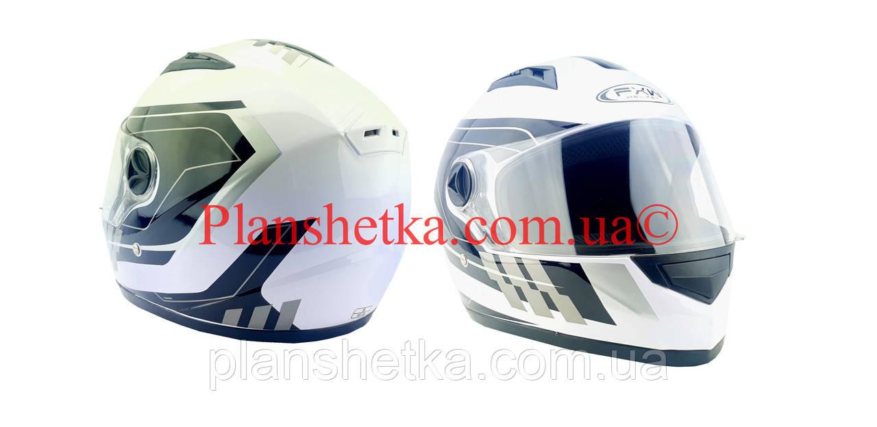 Шолом для мотоцикла Hel-Met 111 білий з чорним S/M