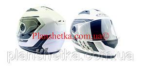 Шолом для мотоцикла Hel-Met 111 білий з чорним S/M, фото 2