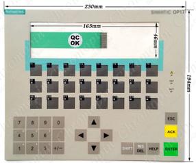 Мембранная клавиатура SIEMENS 6AV3617-1JC20-0AX1 6AV3 617-1JC20-0AX1 OP17 панель оператора сенсор