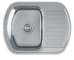 Кухонна мийка Kuchinox JASPER 1-камерна с крилом, 630х490х175 мм, виконання льон