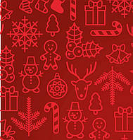 Новогодние скатерти по Вашим размерам   ткань с новогодним рисунком