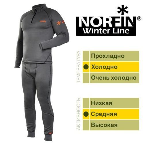Термобелье мужское Norfin WINTER LINE GRAY (303600), комплект термобелья