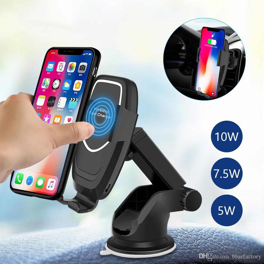 Крепление для телефона в авто с беспроводной зарядкой. Автодержатель телефона