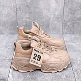 ТІЛЬКИ 40,41 р!!! Жіночі коричневі кросівки на підошві 6 см еко-шкіра, фото 7