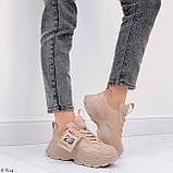 ТІЛЬКИ 40,41 р!!! Жіночі коричневі кросівки на підошві 6 см еко-шкіра, фото 8