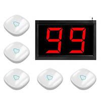Система виклику медперсоналу RECS №66 | кнопки виклику медсестри 5 шт + приймач виклику персоналу на 3 номери, фото 1