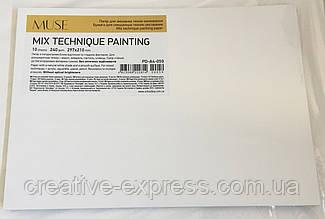 Папір для змішаних технік малювання, А4+/10арк., 240г/м2, термозбіжна плівка