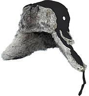Шапка-ушанка мужская с мехом Norfin ARDENT черная (302766)