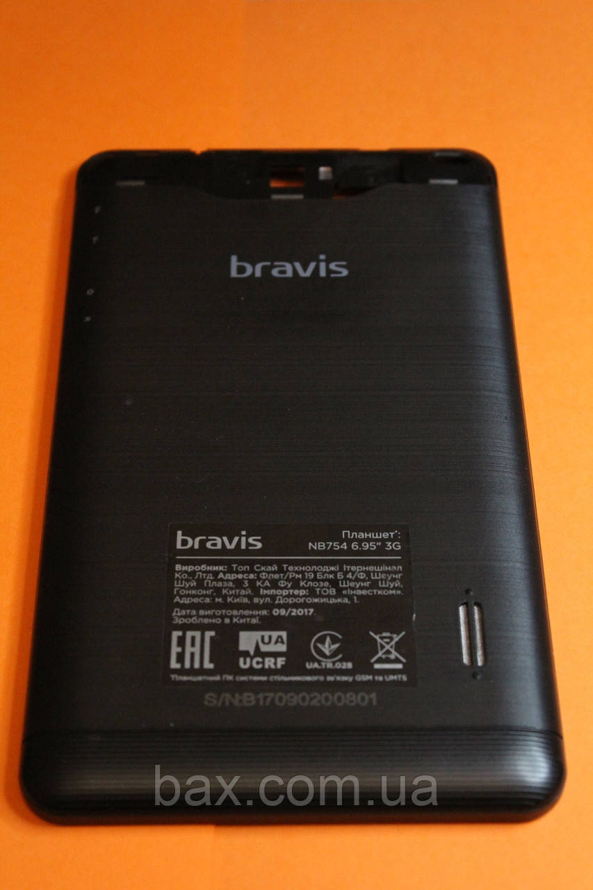Кришка АКБ для планшету чорна Bravis NB754