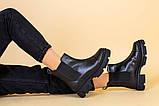 Черевики жіночі на байку чорні, фото 6