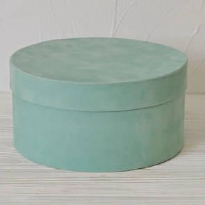 Бархатная круглая коробка d=20 h=10 см