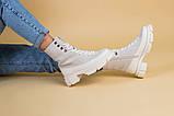 Черевики жіночі замшеві бежеві з шкіряною вставкою, демісезонні, фото 4