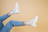 Черевики жіночі замшеві бежеві з шкіряною вставкою, демісезонні, фото 6