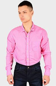 Рубашка мужская розовая AAA 128936P
