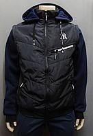 Мужская куртка - жилет в синем цвете