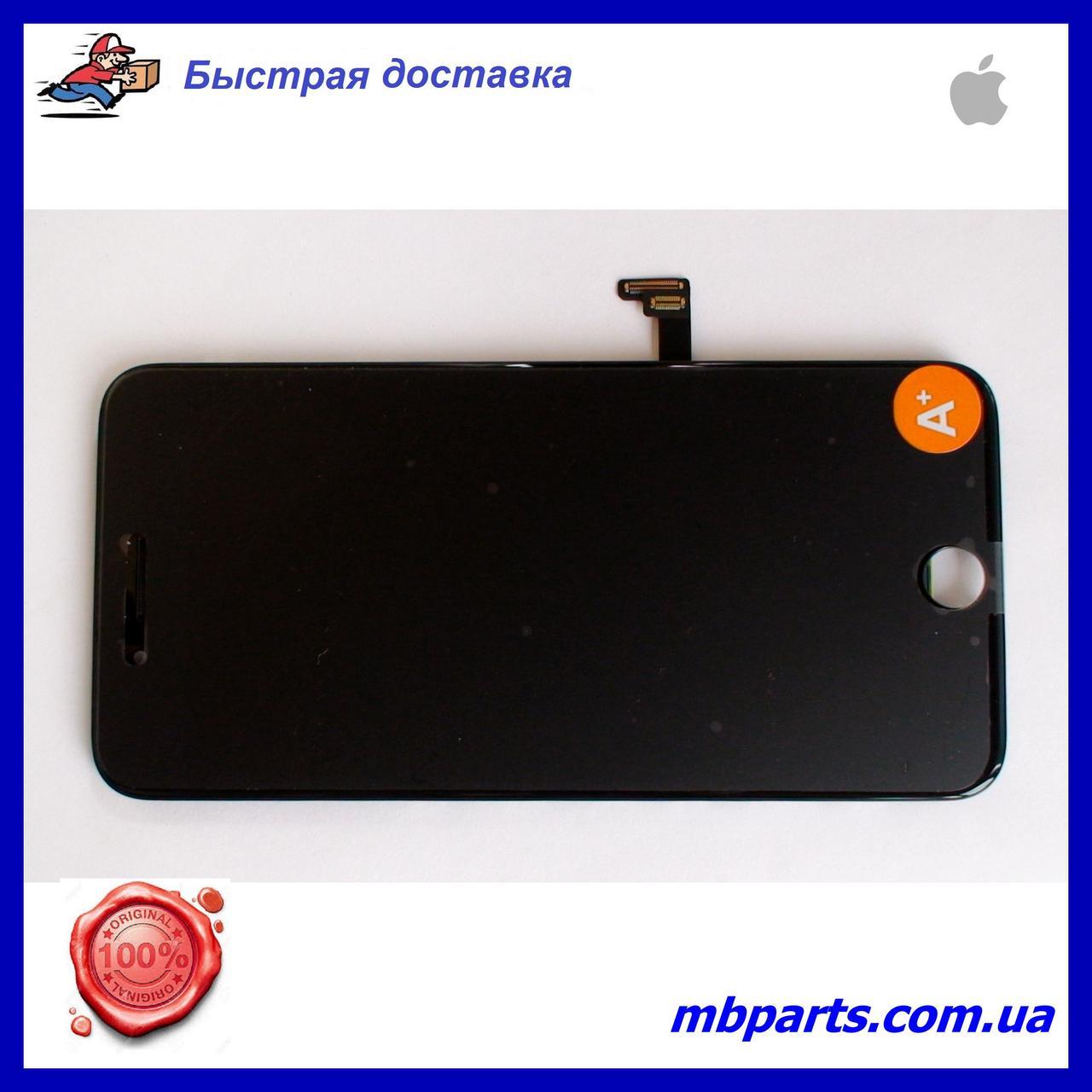 """Дисплей iPhone 8 Plus (5,5"""") Black, оригінал з рамкою (відновлене скло)"""