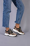 Кросівки жіночі замшеві колір хакі з вставками з сітки, фото 2