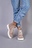Ботинки женские замшевые цвета капучино демисезонные, фото 4