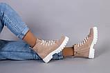 Ботинки женские замшевые цвета капучино демисезонные, фото 6