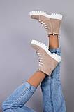 Ботинки женские замшевые цвета капучино демисезонные, фото 8