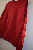 Світшот Adidas YEEZY Calabasas burgundy, фото 2