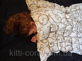 Полуторное евро утяжеленное одеяло. 150х210см, 7кг, с наполнителем из гречневой лузги (шелухи).