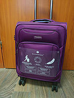 Ультра легкий тканевый чемодан 100% ручная кладь на 4-х колесах Snowball 91703 (ФРАНЦИЯ)
