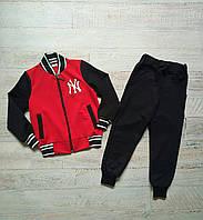 Спортивный весенний костюм малютка для мальчика темно-синий+красный