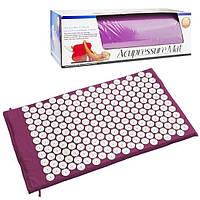 Коврик ортопедический массажный Acupressure mat с подушкой., фото 1
