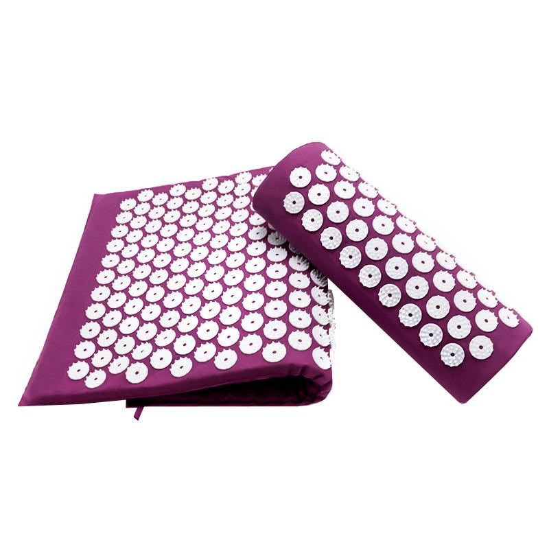 Ортопедичний килимок масажний Acupressure mat з подушкою.