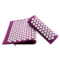 Ортопедичний килимок масажний Acupressure mat з подушкою., фото 1