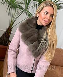 Куртка розового цвета с мехом в наличии