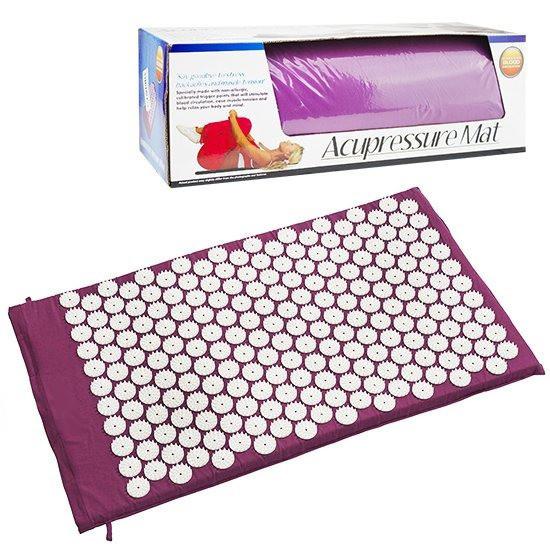 Коврик ортопедический массажный Acupressure mat с подушкой.