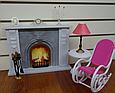 """Набір лялькової меблів Gloria 96006 """"Камін"""", крісло, столик, лампа, фото 2"""