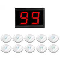 Система виклику медперсоналу RECS №65 | кнопки виклику медсестри 10 шт + приймач виклику персоналу, фото 1
