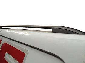 """Рейлинги Renault Kangoo 2008+ для длинной базы  Crown (тип skyport), сплошный алюминий, цвет """"Черный"""""""
