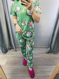 Пижама Трикотажная Футболка и  штаны Кокос кораловый, фото 2