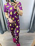 Пижама Трикотажная Футболка и  штаны Кокос кораловый, фото 4