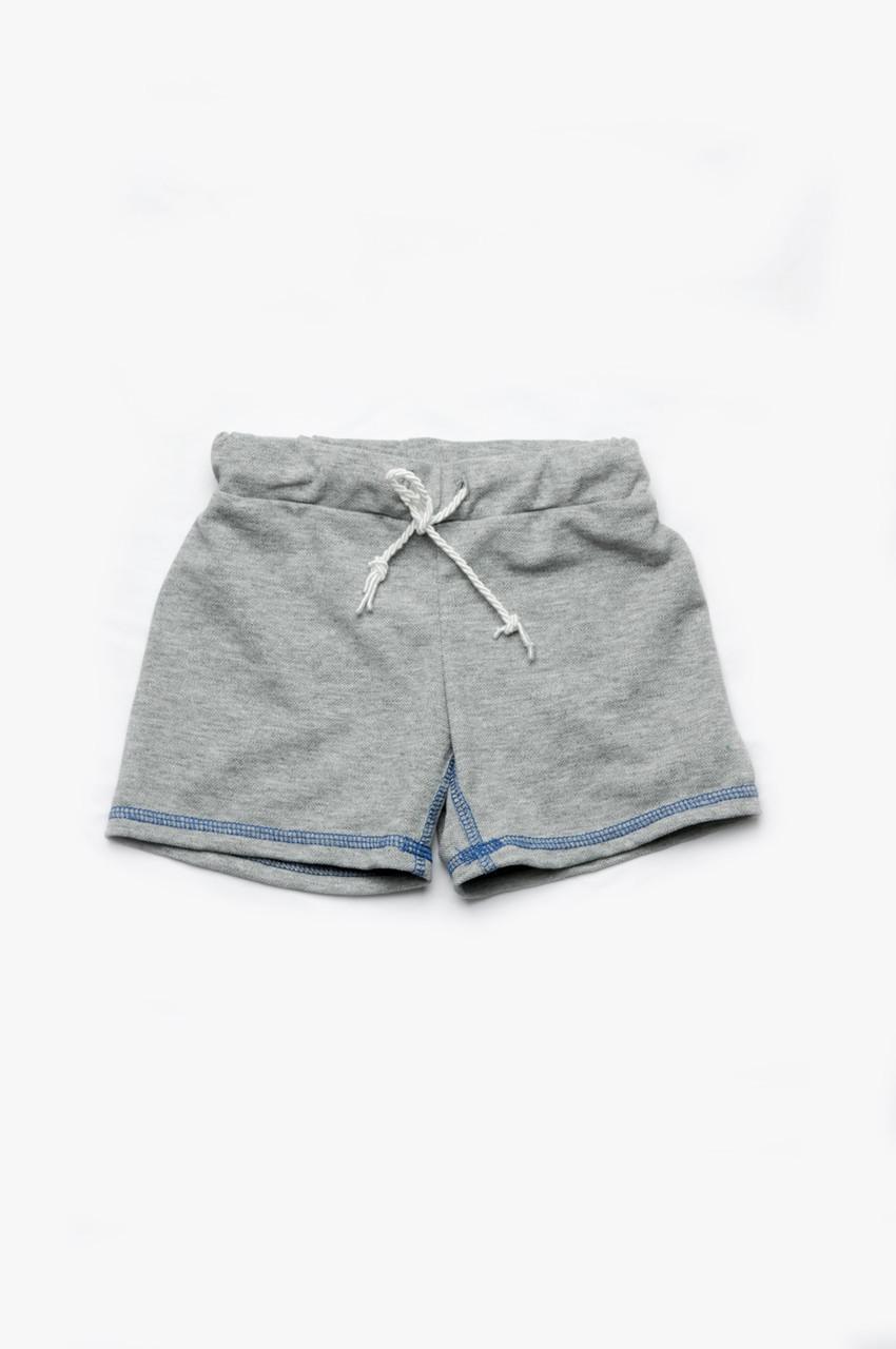 Детские шорты для мальчика серые (поло)
