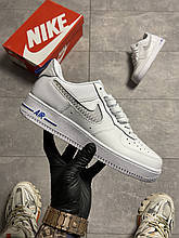 Nike Air Force 1 07 LV8 GS White Blue (Білий)
