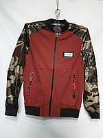 """Куртка чоловіча демісезонна з принтом на грудях, р-ри 48-56 """"RETRO"""" недорого від прямого постачальника"""